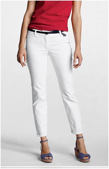 lands end white jeans
