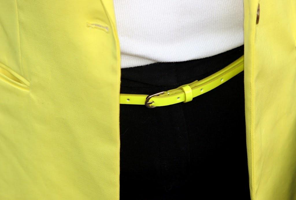 neon yellow belt