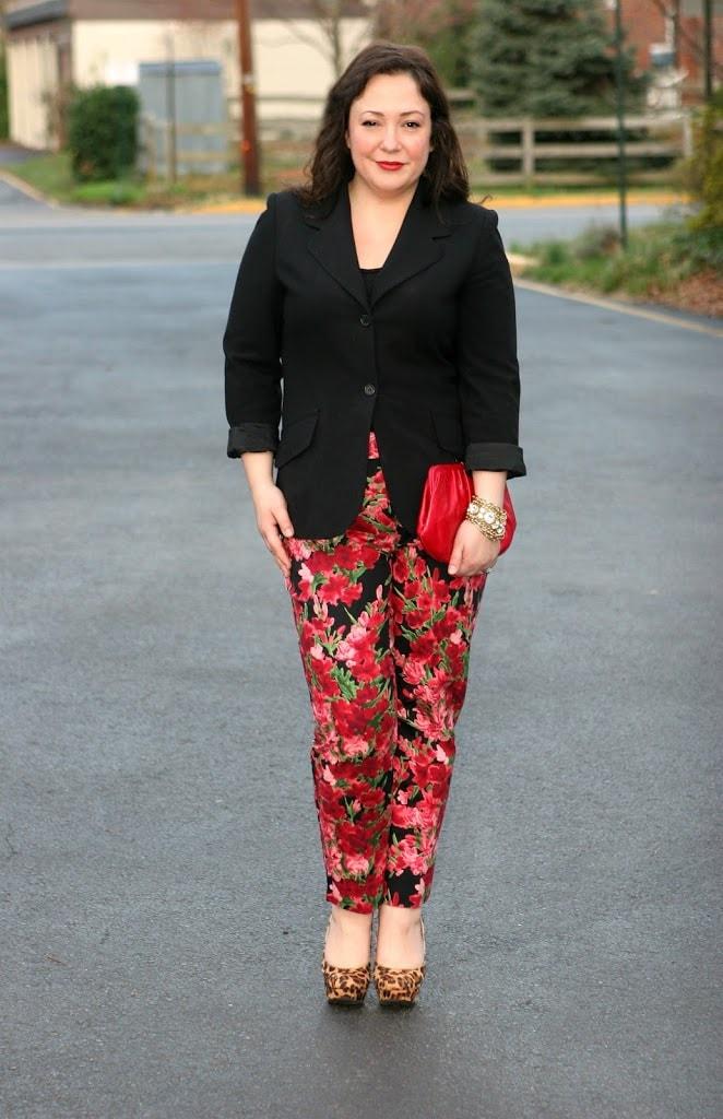 talbots floral pants1