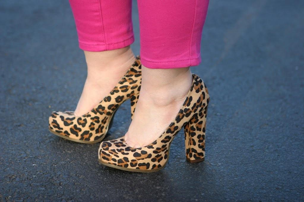 target leopard pumps