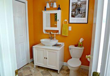 Inside our Home – Main Floor Half Bath