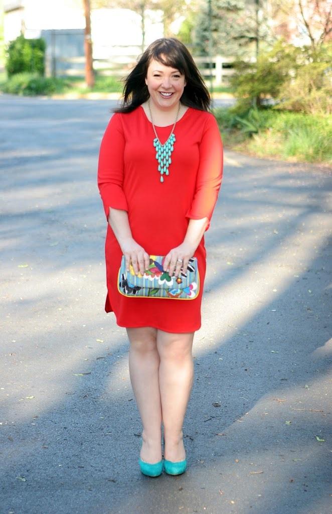 alison gary red dress