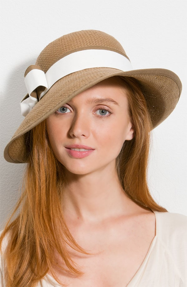 glint double band hat straw nordstrom