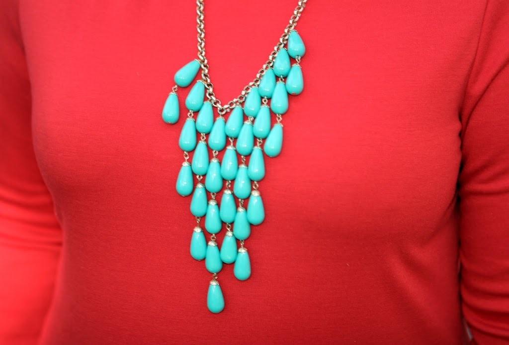 jcrew turquoise necklace