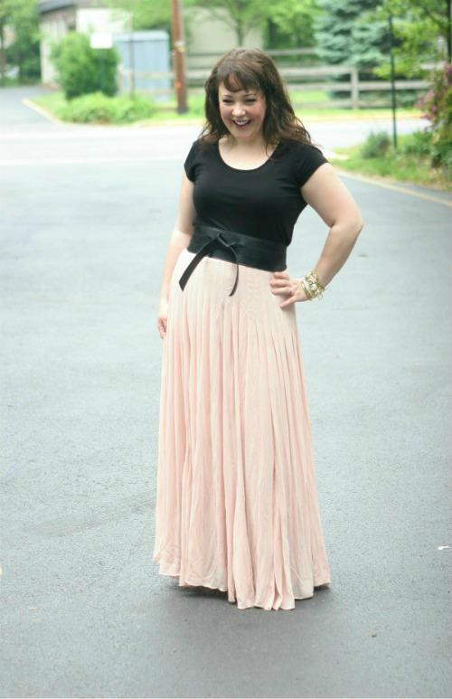 ann taylor ballet maxi skirt