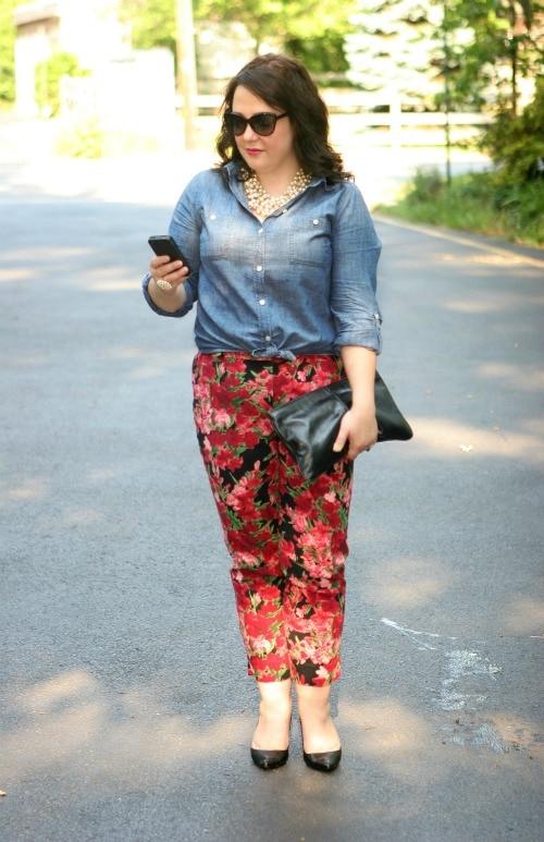 floral crop pants