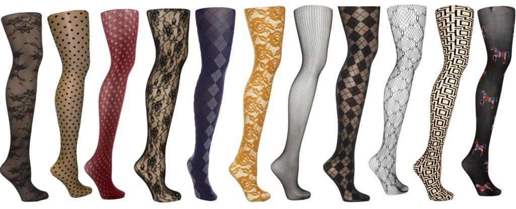 patterned hosiery