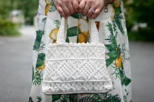 vintage crocheted handbag