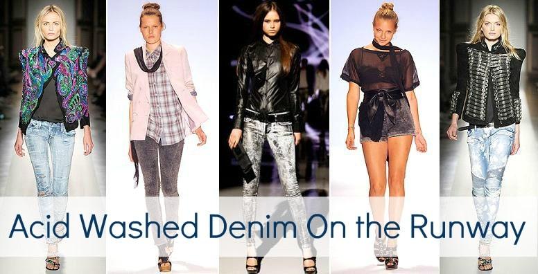 acid washed denim runway