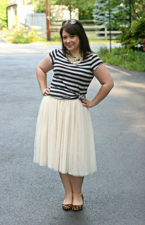 Monday - Ballerina Skirt with Stripes