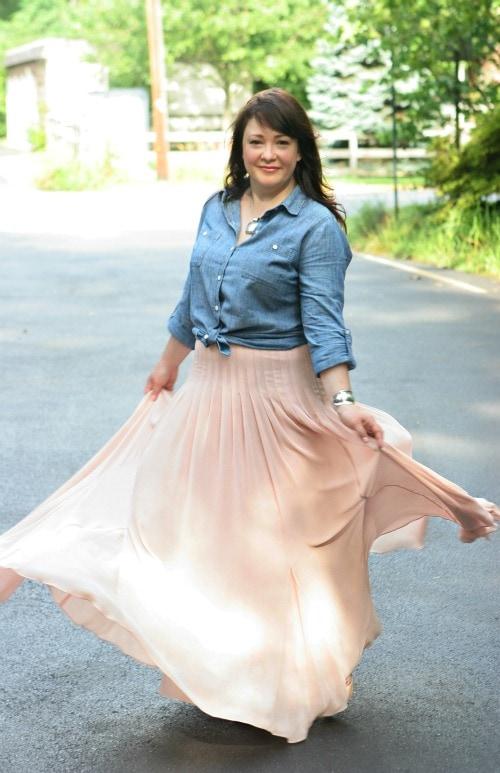 ann taylor maxi skirt fashion blogger
