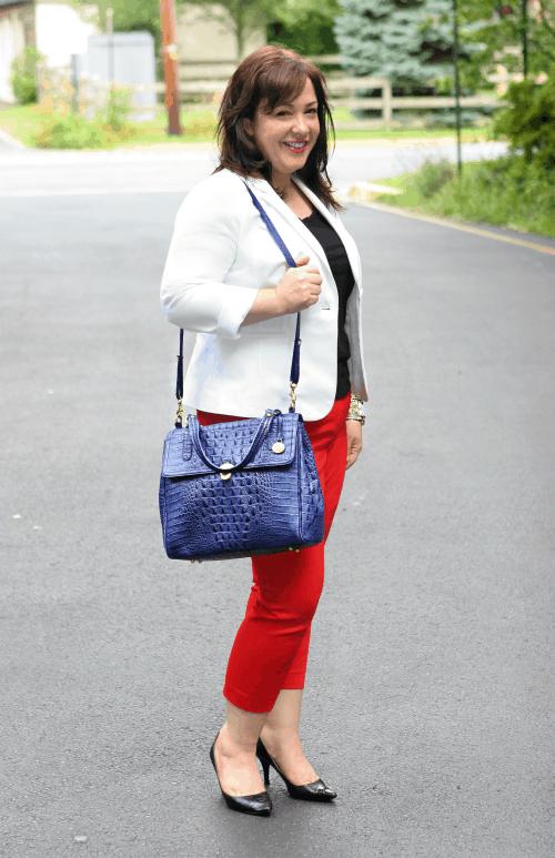 blue brahmin bag purse