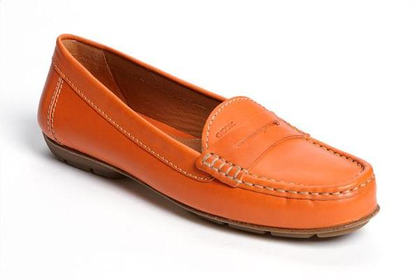 geox donna italy loafer driving moc orange