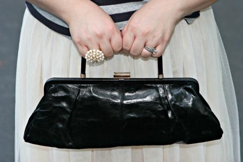 hobo the original black leather clutch purse