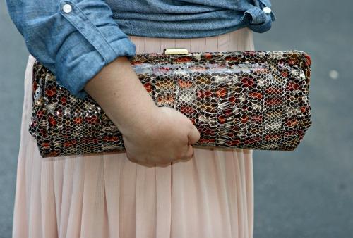 snakeskin clutch purse hobo international