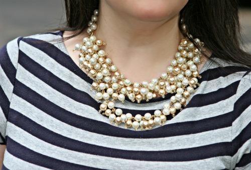 stella dot pearl necklace kiristin biggs