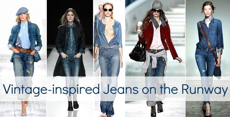 vintage jeans runway