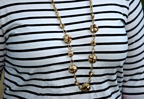 brushed gold necklace