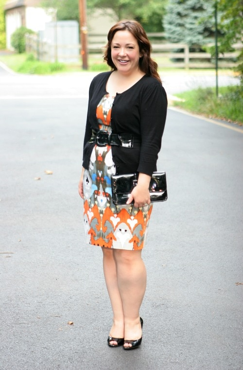 cardigan with dress