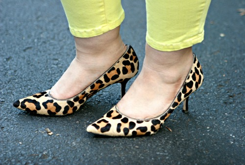 leopard haircalf pumps