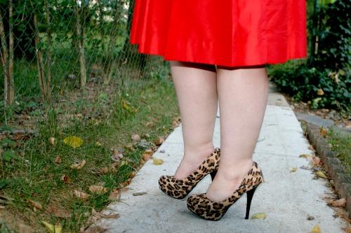 leopard platform heels