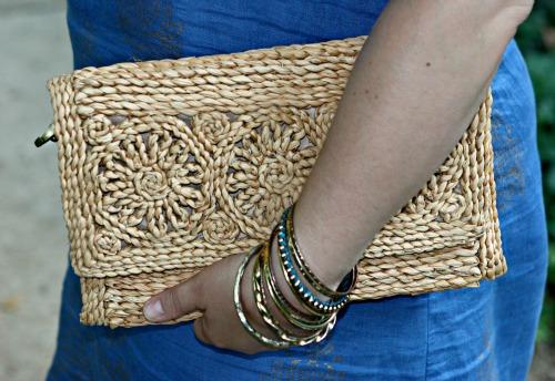 wicker clutch purse
