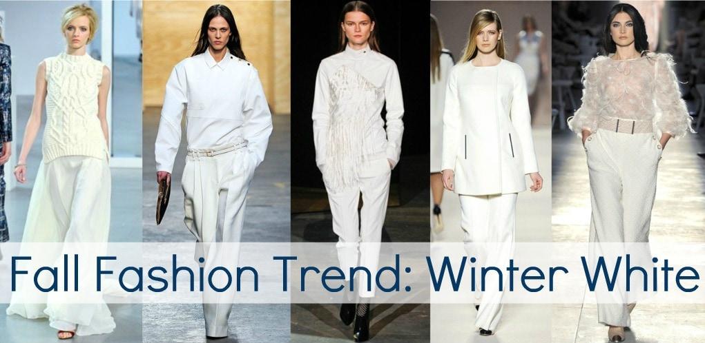 Fall 2012 Fashion Trend Winter White