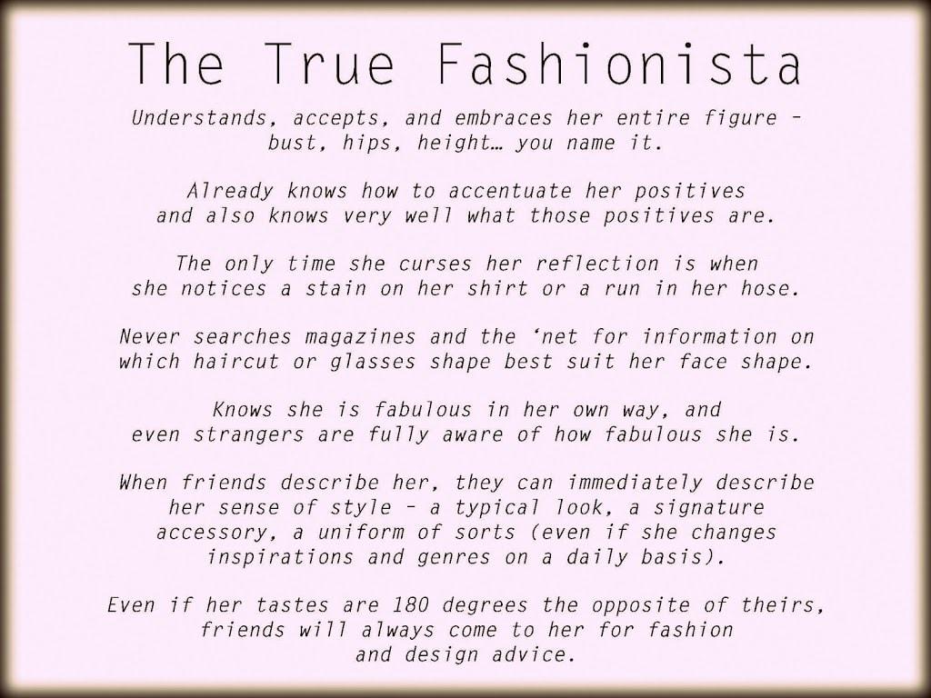 The True Fashionista