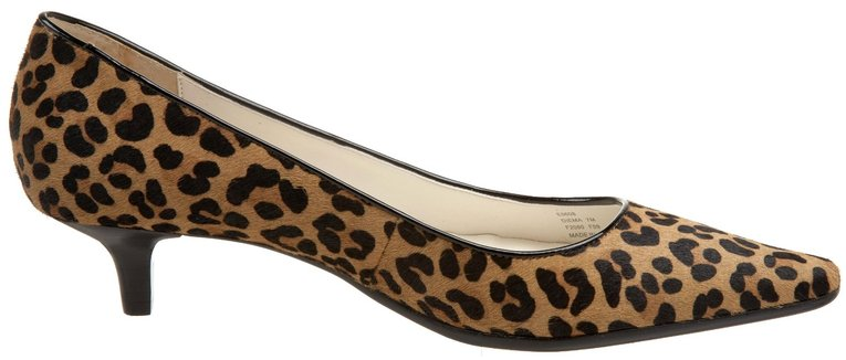 calvin klein diema leopard pump