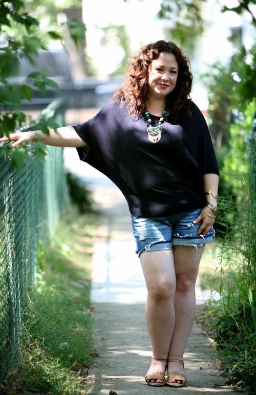 denim cutoffs fashion blogger