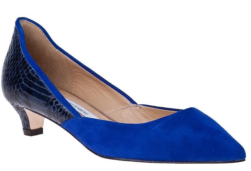 diane von furstenberg alice pump blue suede