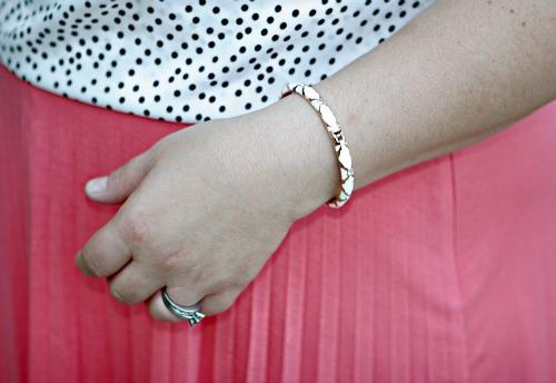 gold enamel bracelet