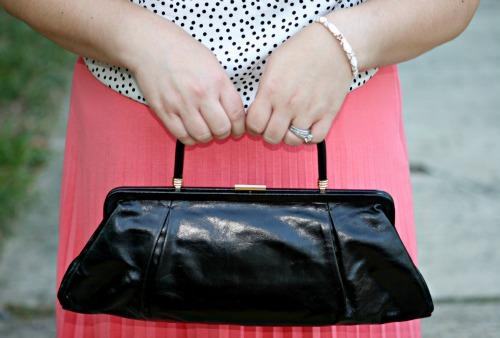 hobo black leather bag clutch
