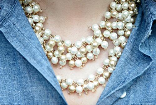 kristin biggs stella dot pearl necklace