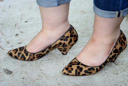 leopard haircalf cone heels