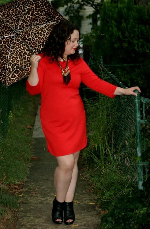 new york company red dress
