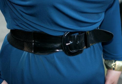 black patent leather belt wide