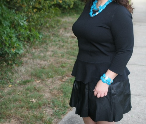 black with turquoise
