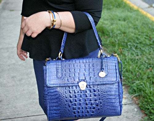 blue brahmin purse