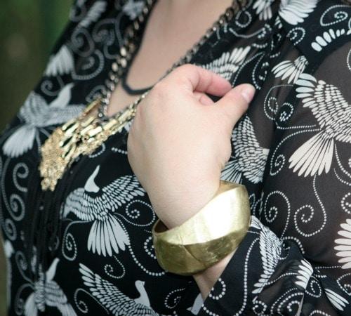 gold bracelet in pink