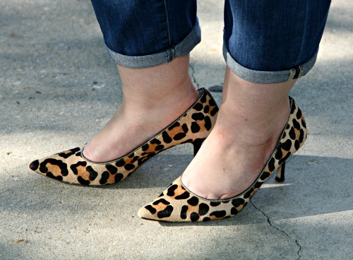 leopard haircalf heels