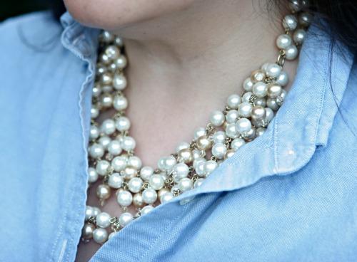 stella dot necklace pearl