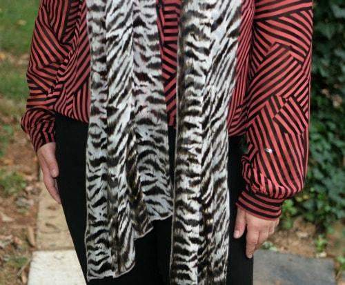 zebra stripes blouse