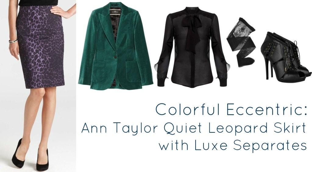 ann taylor quiet leopard pencill skirt