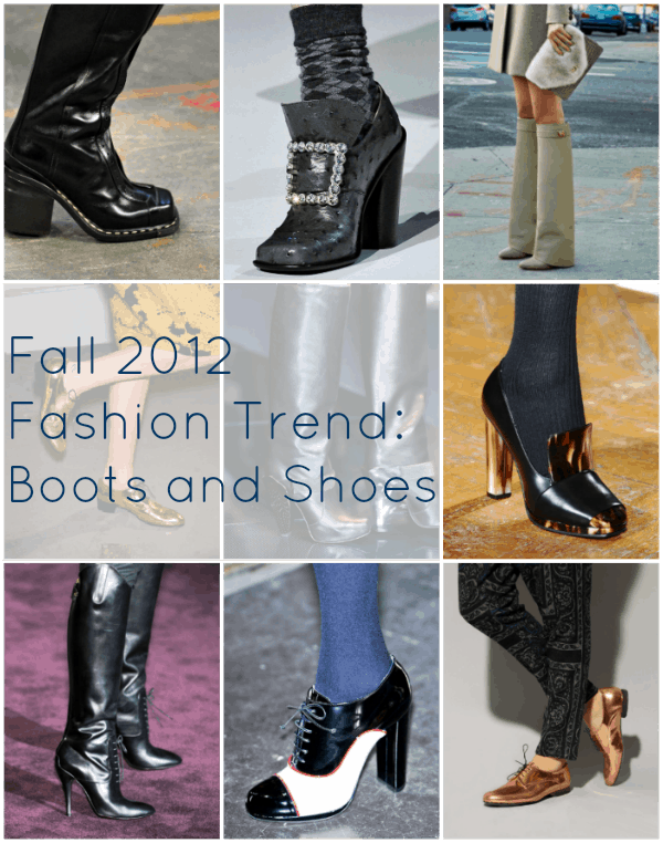 fall 2012 shoe trends boots fashion