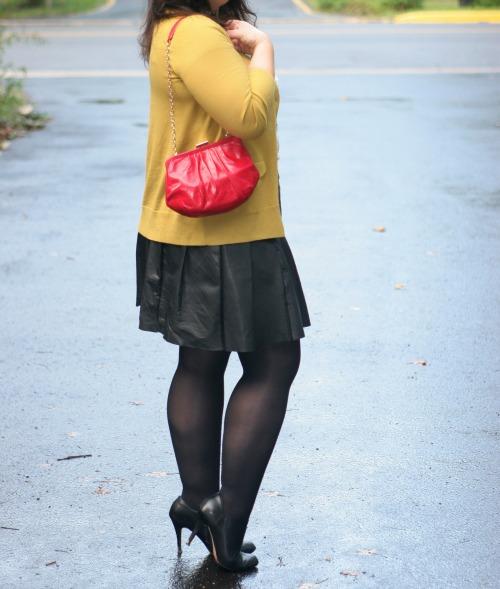 pleated leather skirt1