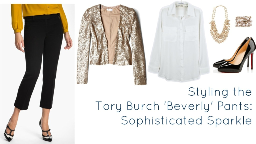 tory burch pants sequin sparkle how to