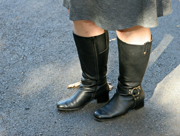 wide calf harness boots