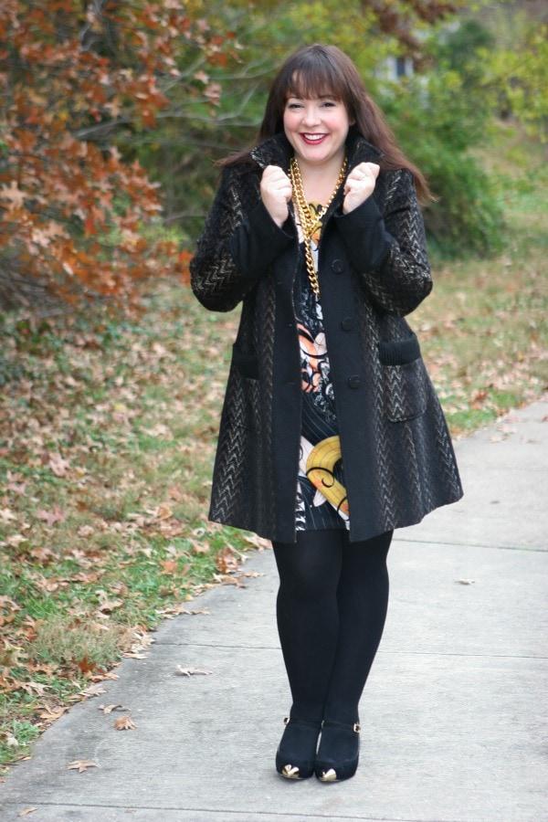 curvy fashion blogger winter