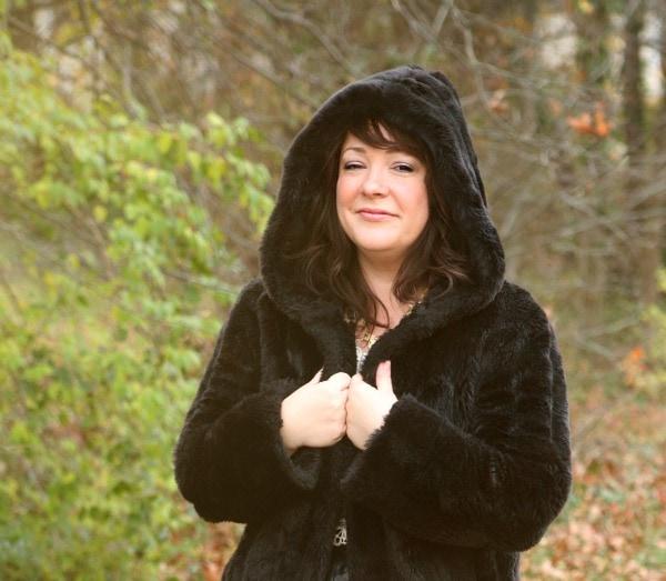 faux fur coat hood